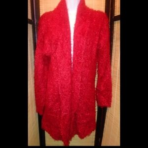 Womens red cardigan XL free with purchase